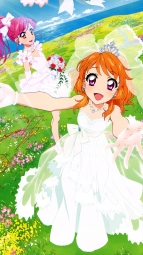 i_321893 aikatsu! autographed dress oozora_akari otoshiro_seira watanabe_satomi wedding_dress