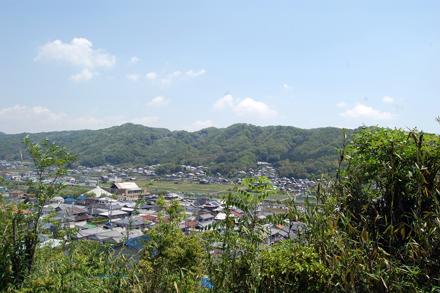 椿井城跡を望む