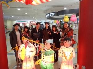 長崎空港で記念撮影
