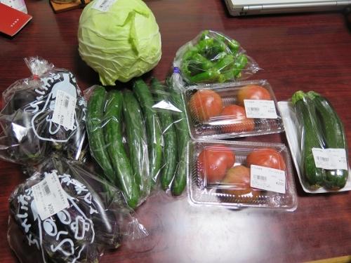 道の駅 にしお岡の山で買った野菜