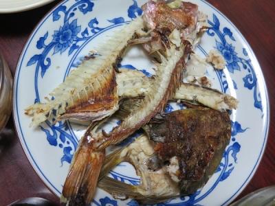 鯛とコチのアラ干物