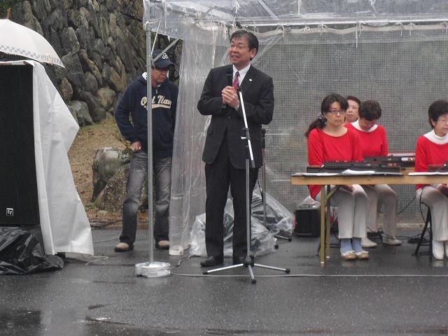 H27亀山城桜まつり櫻井市長挨拶