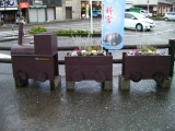 JR新宮駅 おまけ 花壇の汽車