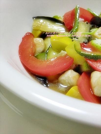 鶏肉と夏野菜のスタミナ炒め♪