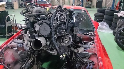FC3Sエンジン載せ替え