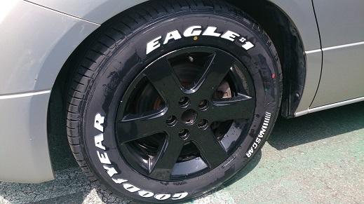 I様エルグランド、新品タイヤ