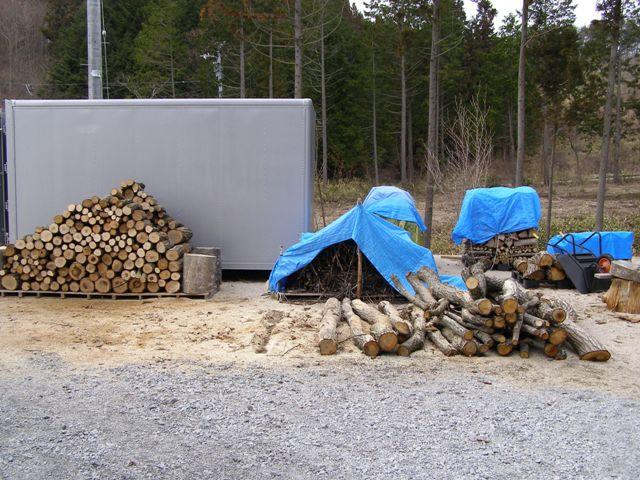 原木処理後