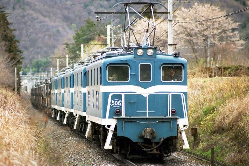 1996年4月21日 黒谷~武州原谷(貨)にて