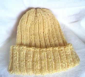 20150224棒編み帽子