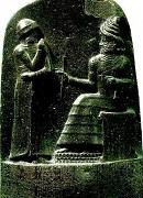 ハンムラビ王と太陽神シャマシュ