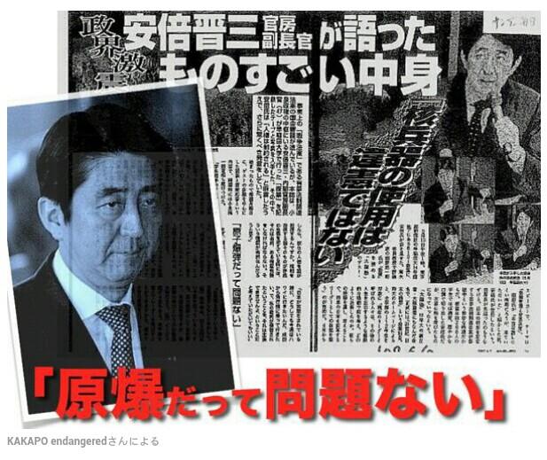 日本民族はものごとを深く考えず権力に迎合する!幼稚な安倍政権は  原爆を使う可能性が高い!兵頭正俊氏