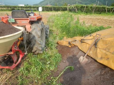 堆肥撒き (1)