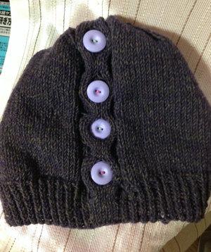201150202 ハニカム模様の帽子 全体