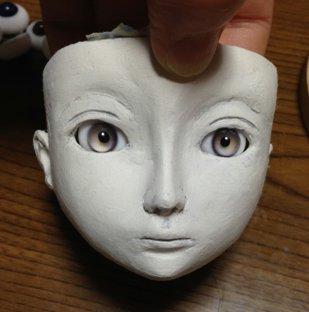 20150422 球体関節人形 顔
