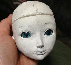 20150422 球体関節人形 以前の顔