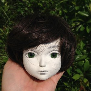 20150525 球体関節人形 ウィッグ装着