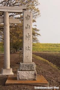 白山神社(羽生市上新郷)2