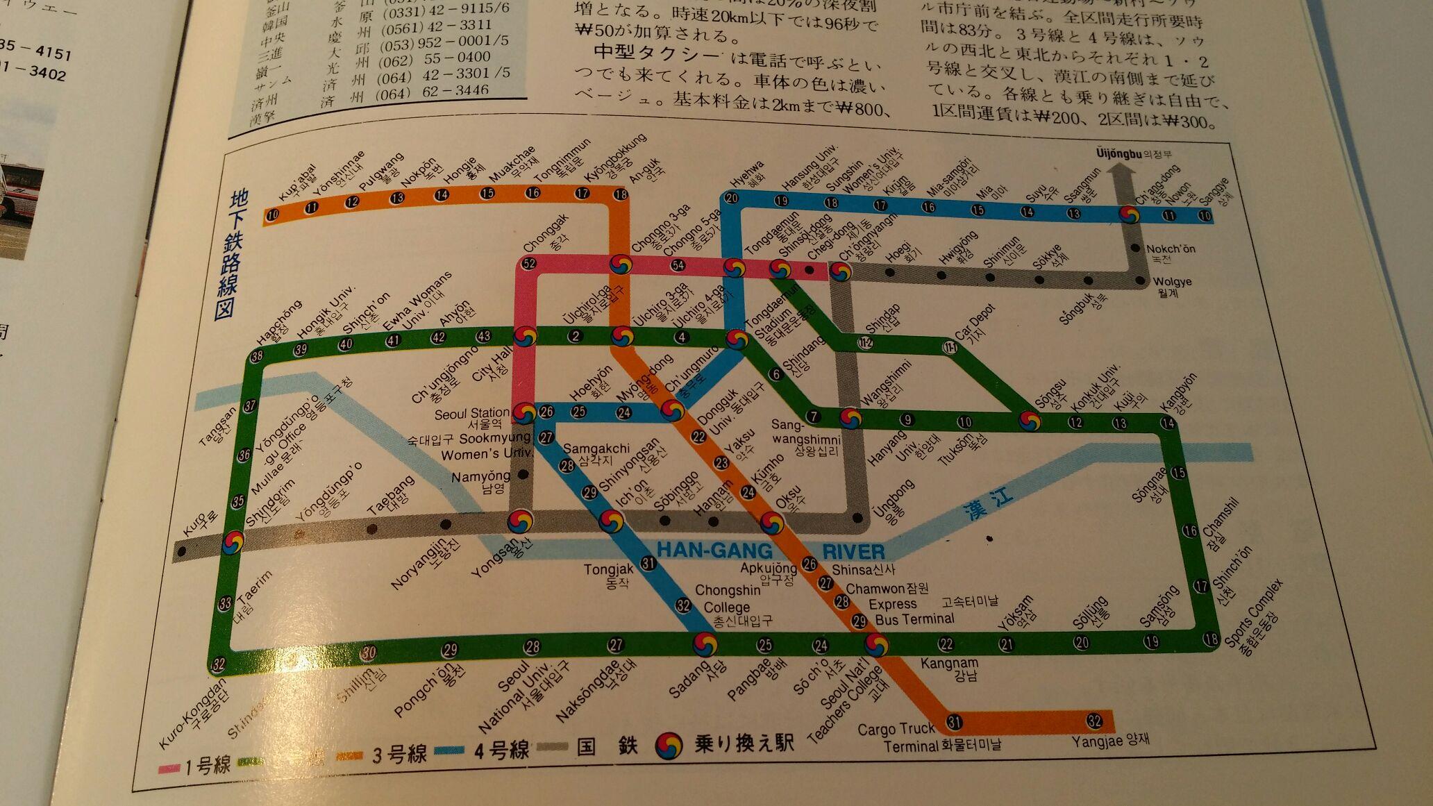 1990ソウル地下鉄