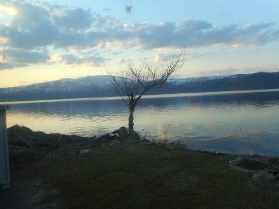 屈斜路湖4月25日夕