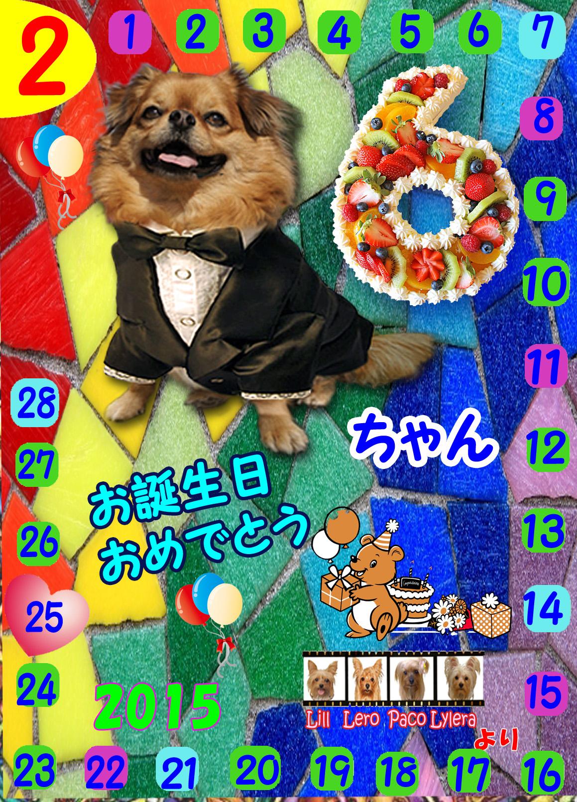 2015-02-25ちょこちゃんお誕生日カード
