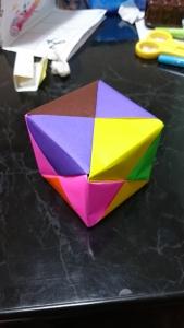折り紙〜四角の完成