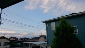 台風後の今朝の空