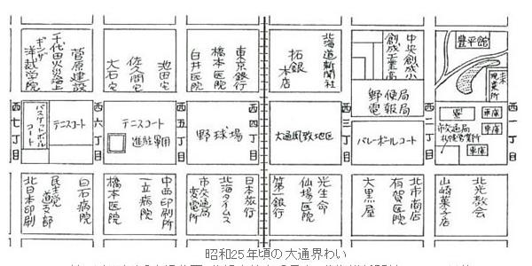 大通公園 戦後地図