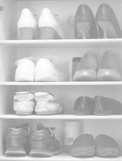 靴を入れる向き