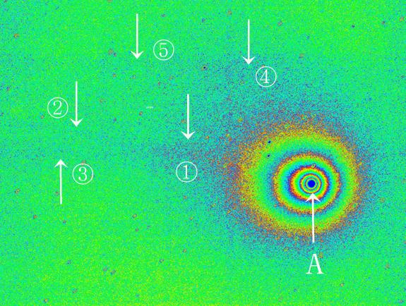 ラブジョイ彗星擬似カラー2015年1月24日