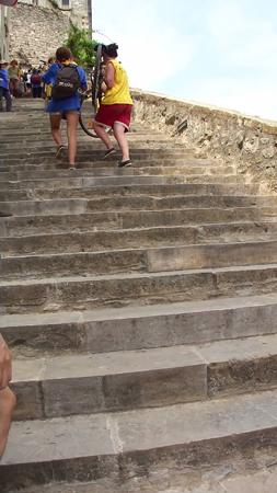 階段450段