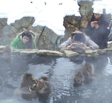 カメラマンと雪猿(26.12.31)