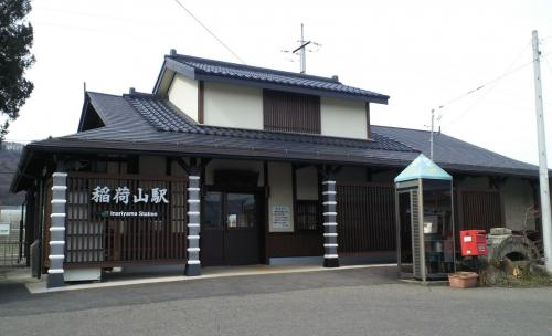 篠ノ井線稲荷山駅舎(27.2.28)