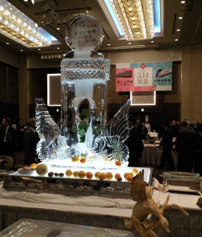 氷のメモリアル彫刻(27.3.14)