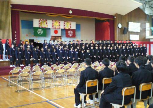 山ノ内中学校卒業式(27.3.19)