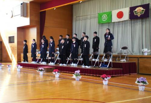 西小学校卒業式(27.3.18)
