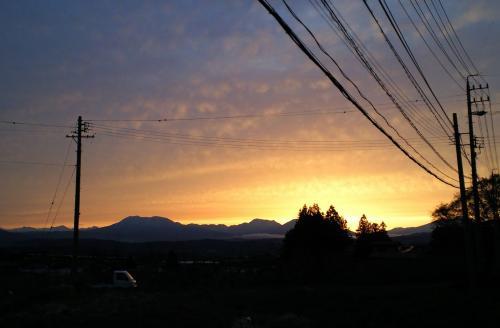 21日の夕日(27.4.21)