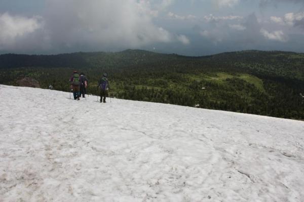 鶴の岱雪渓
