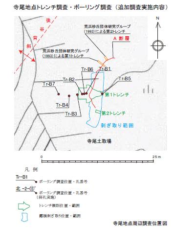 東電はぎ取り位置図