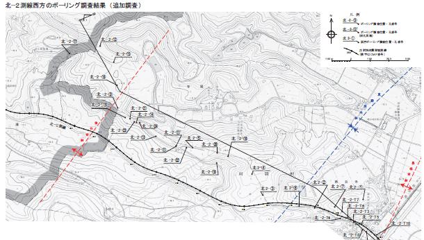 北2測線位置図
