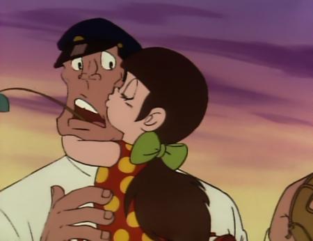 ドカベン 山田サチ子が岩鬼にキスするシーン11