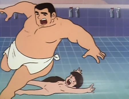 ドカベン 山田サチ子の全裸入浴シーン乳首22
