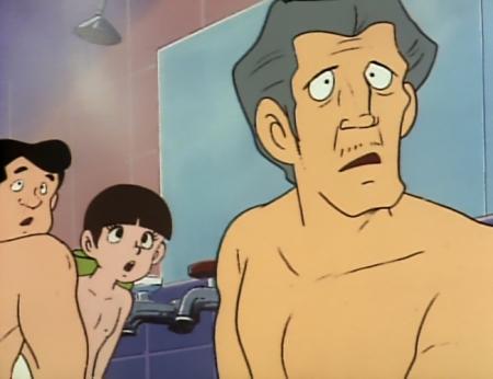 ドカベン 山田サチ子の胸裸入浴シーン乳首26