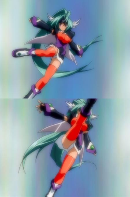 円盤皇女ワるきゅーレ1期 ハイドラの変身シーンのパンチラ23