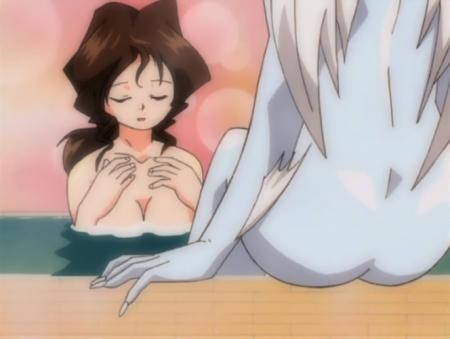 円盤皇女ワるきゅーレ1期 銭湯の女性客の胸裸28