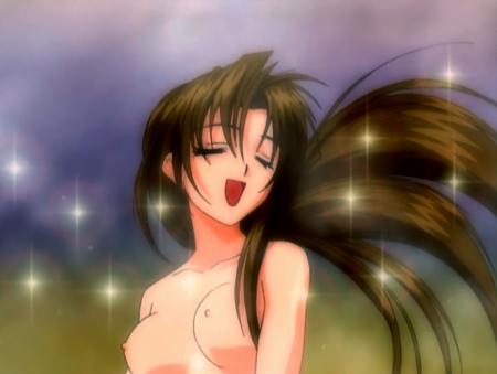 円盤皇女ワるきゅーレ1期 銭湯の女性客の胸裸入浴シーン乳首2