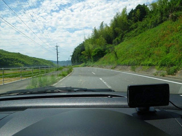 田舎道をの~んびりと