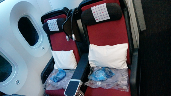 JAL PY seat 3