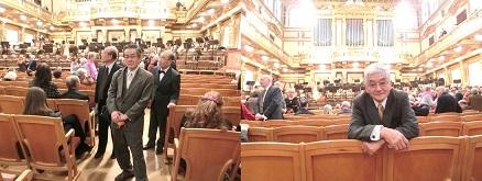 11 ウィーン楽友協会・黄金の大広間・ウィーンフィル ・休憩