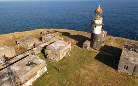 色丹島に残る最後の日本建造物