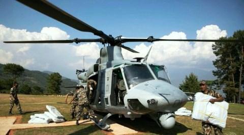 5月13日 AFP 米軍ヘリ行方不明